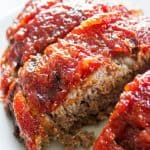 BROWN SUGAR MEATLOAF - my mom's recipe for the best meatloaf you will ever have. Covered with a sweet brown sugar glaze this meatloaf full of flavor. Grab a fork & dig in.