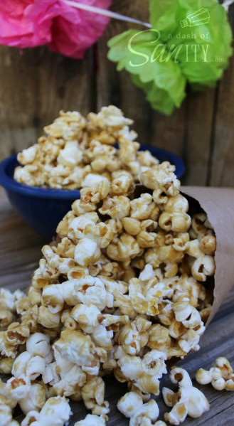 This Amish Caramel Corn is a classic treat. With homemade caramel baked with delicious crunchy popcorn, this is the best way to satisfy your sweet tooth.