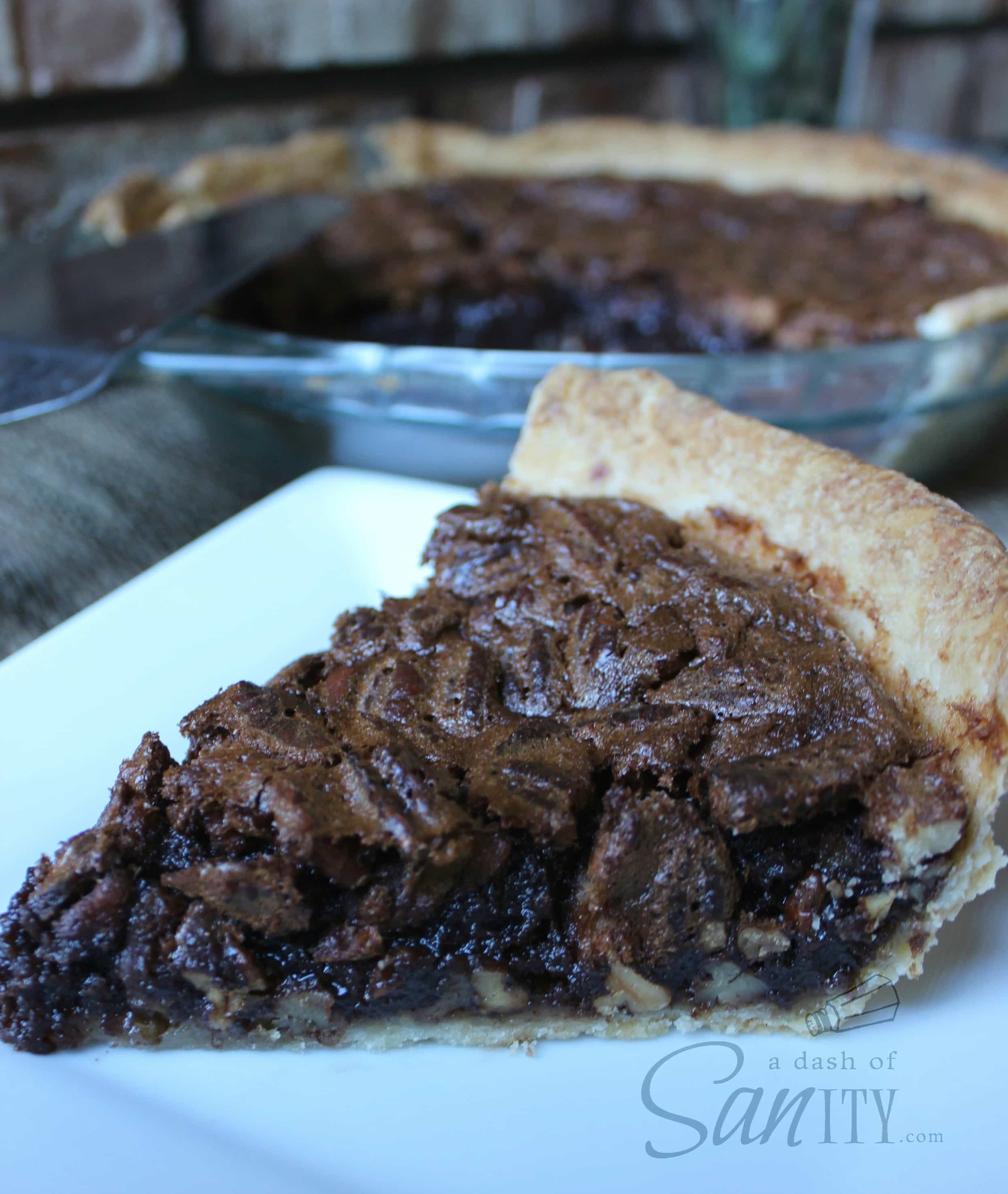 Chocolate Pecan Pie - A Dash of Sanity