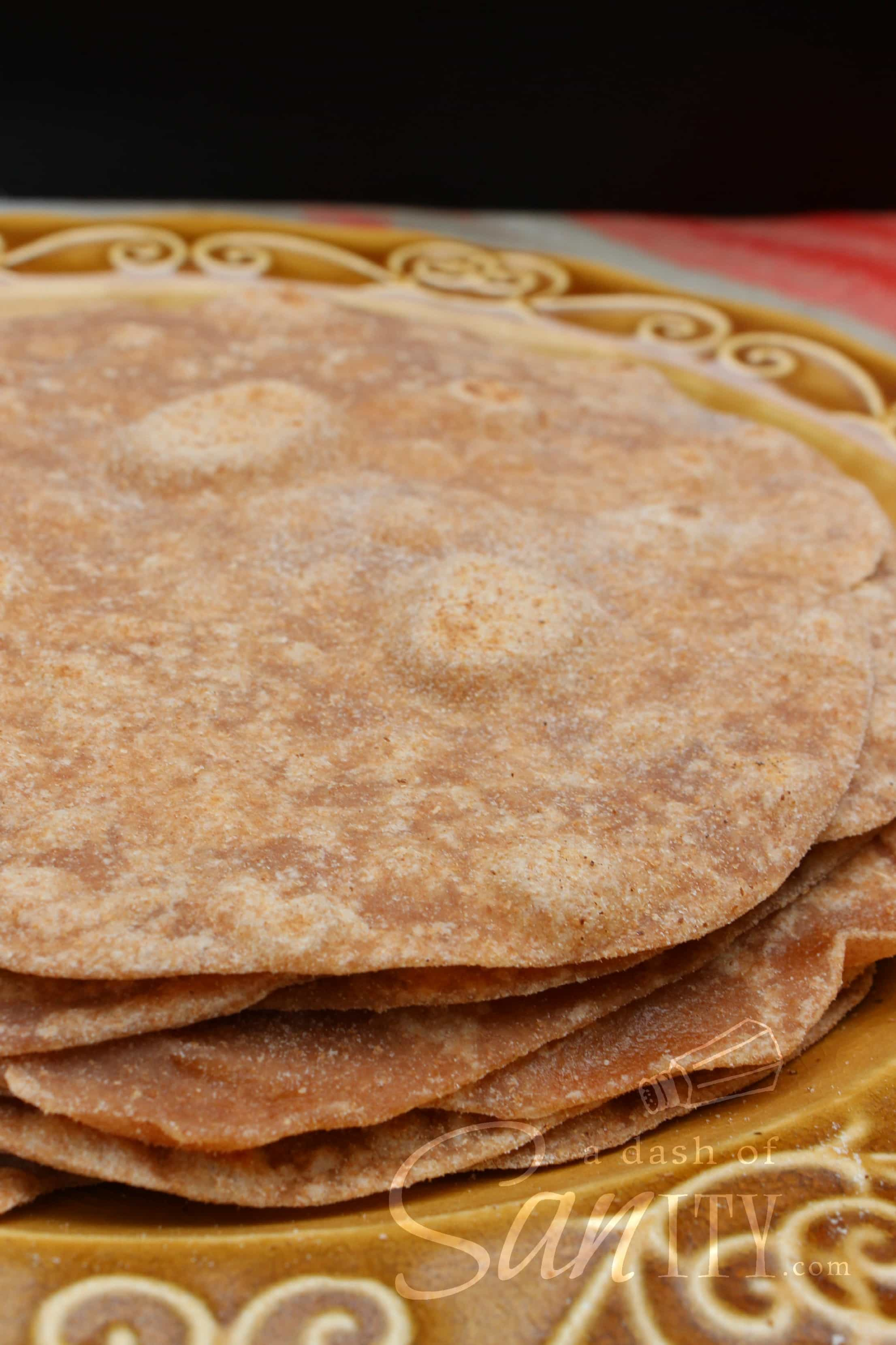 These Whole Wheat Tortillas are the best I've tried. Perfect for wraps, quesadillas, burritos, or as a side for your favorite tortilla soup.