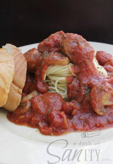 Aunt Dana's Slow Cooker Spaghetti Sauce