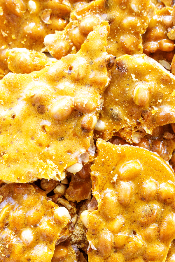 GRANDMA'S PEANUT BRITTLE pieces