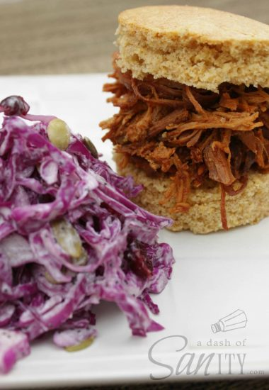 Best Slow Cooker Barbeque Chicken & Healthy Cole Slaw
