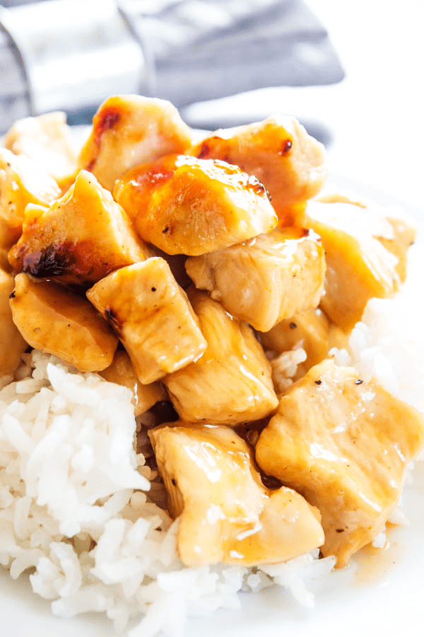 Skip the take-out & make this BAKED SWEET & SOUR CHICKEN recipe. A simple recipe that is a healthier twist on one of our favorite take-out dishes.