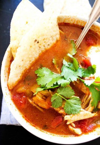 Slow Cooker Authentic Tortilla Soup