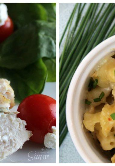 Chive & Garlic Chicken Two Ways: Stuffed Chicken Breast and Creamy Pasta Bake