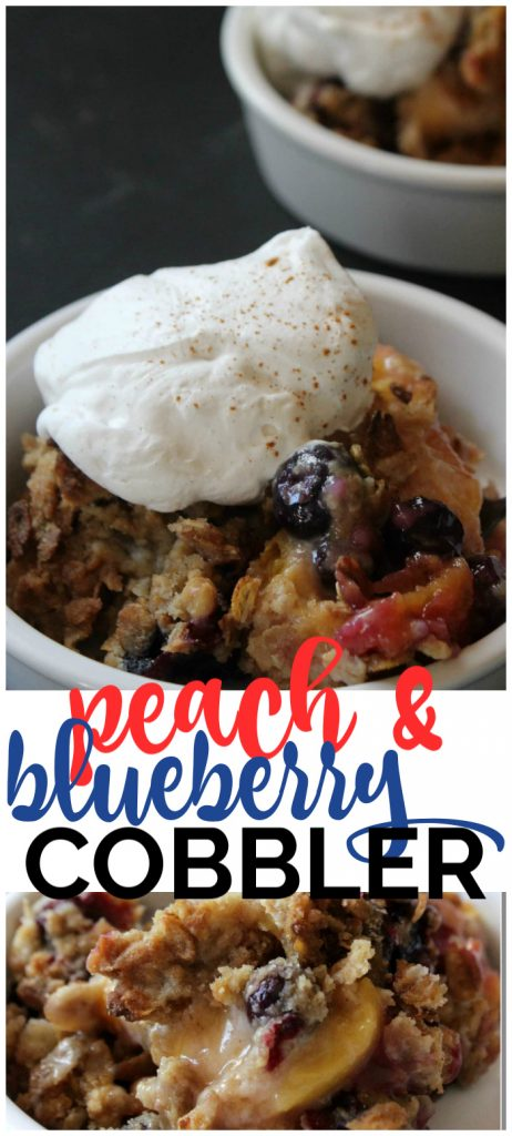 Peach and Blueberry Cobbler pinterest image