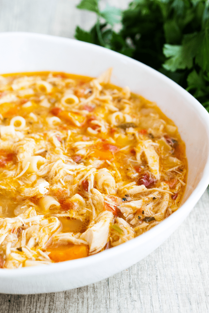 Sicilian Chicken Soup Close Up