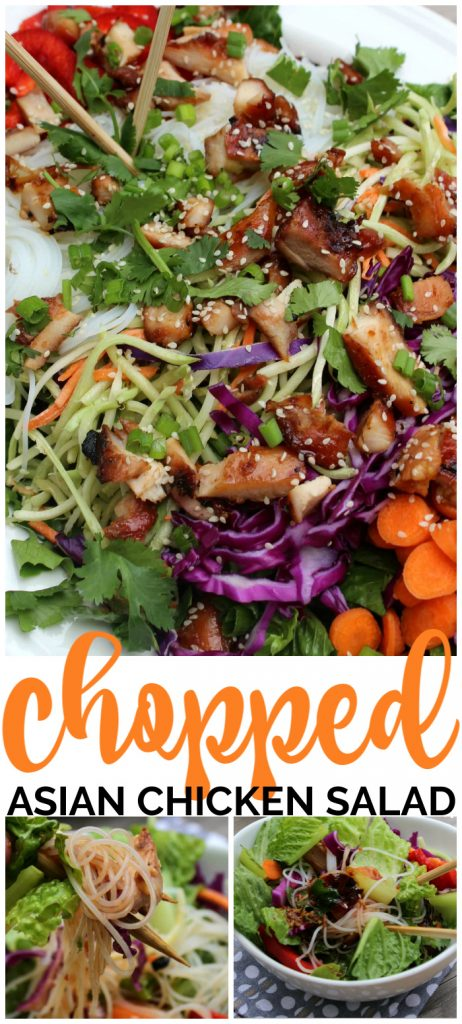Chopped Asian Chicken Salad pinterest image