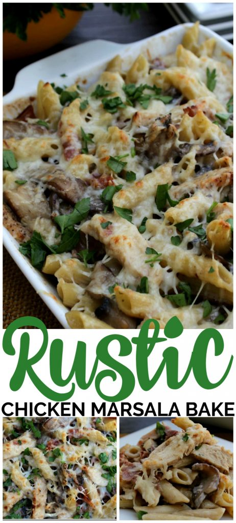 Rustic Chicken Marsala pinterest image