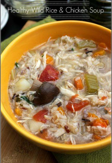 Healthy Wild Rice & Chicken Soup