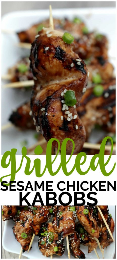 Grilled Sesame Chicken Kabobs pinterest image