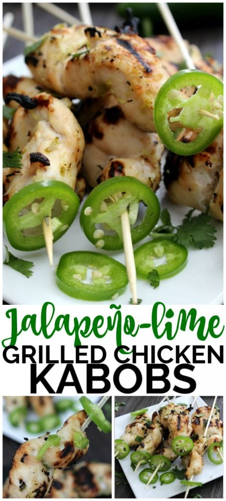 Jalapeño-Lime Grilled Chicken Kabobs pinterest image