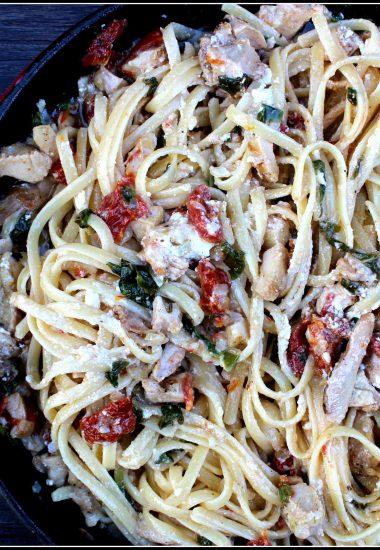 Chicken Bryan Pasta Skillet