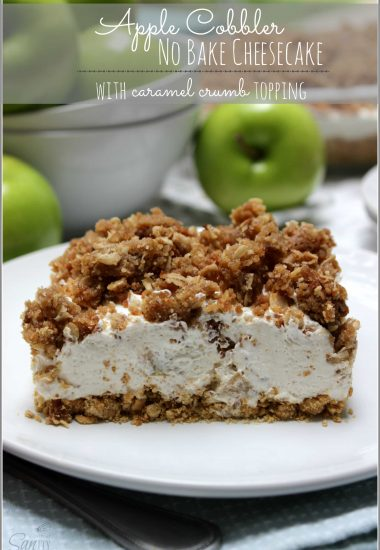 Apple Cobbler No Bake Cheesecake