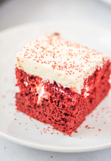 Easy Red Velvet Poke Cake