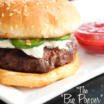Jalapenos and cream cheese atop a nice, juicy burger with strawberry dipping sauce. #dinner #recipe highheelsandgrills.com