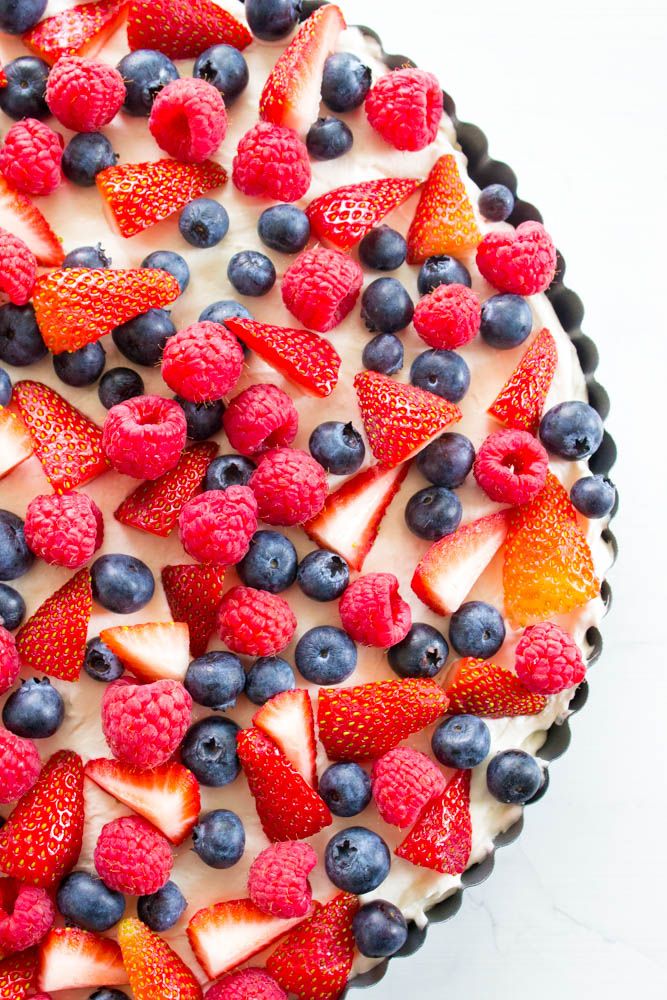 top view of No Bake Fruit Tart