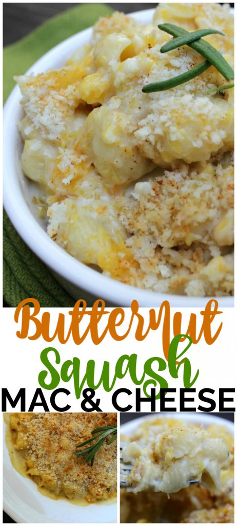 Butternut Squash Mac & Cheese pinterest image