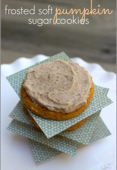 Frosted Soft Pumpkin Sugar Cookies