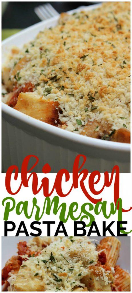 Chicken Parmesan Pasta Bake pinterest image
