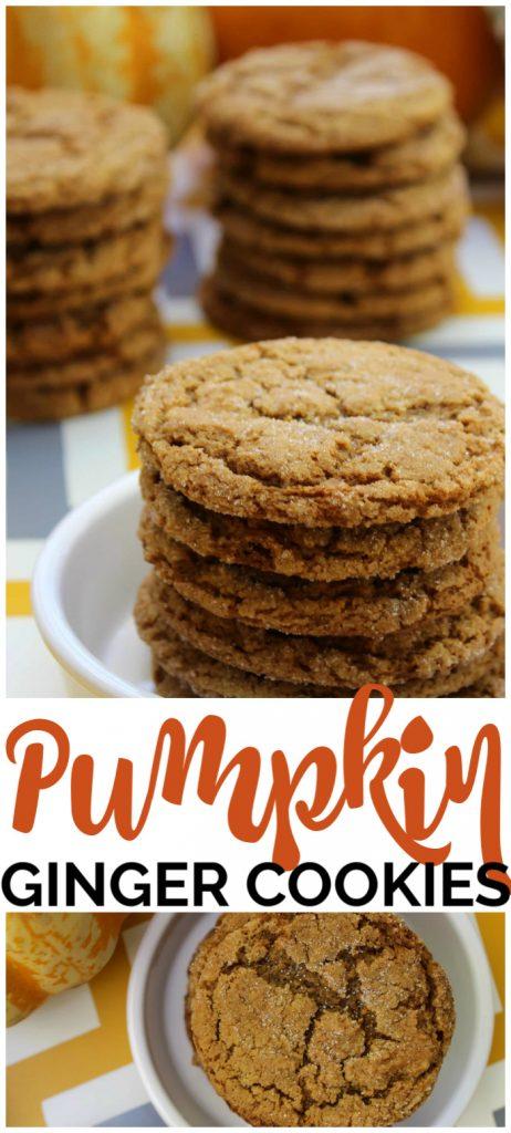 Pumpkin Ginger Cookies pinterest image