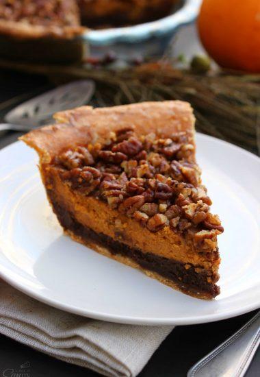 Chocolate Pecan Pumpkin Pie & Holiday Inspired Pies Worth Craving