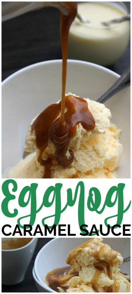 Eggnog Caramel Sauce pinterest image