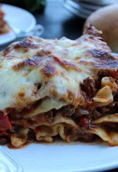 Slow Cooker Lasagna & Marie Callender's Chocolate Satin Pie