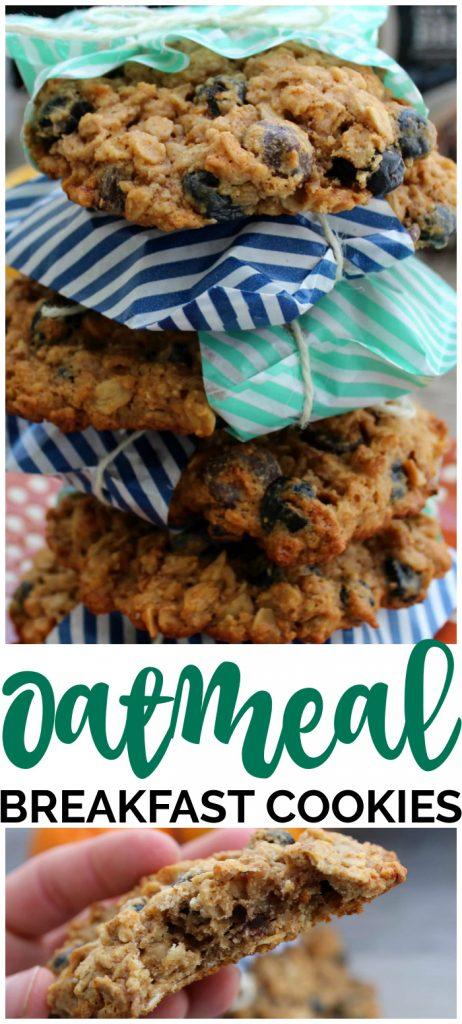 Oatmeal Breakfast Cookies pinterest image