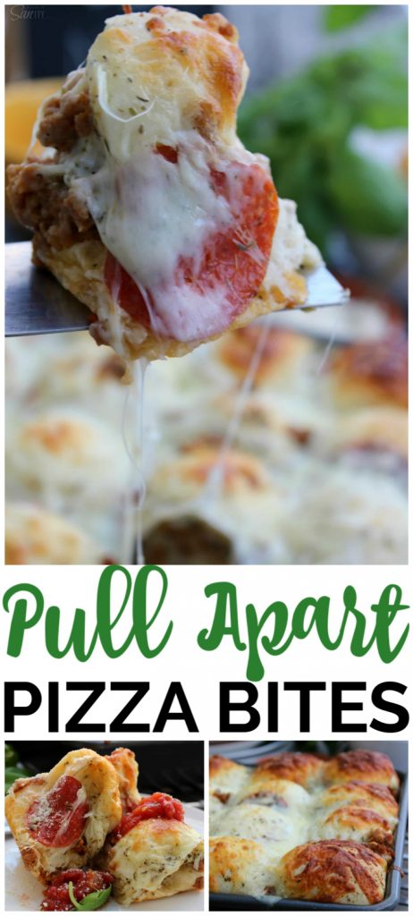 Pull Apart Pizza Bites pinterest image