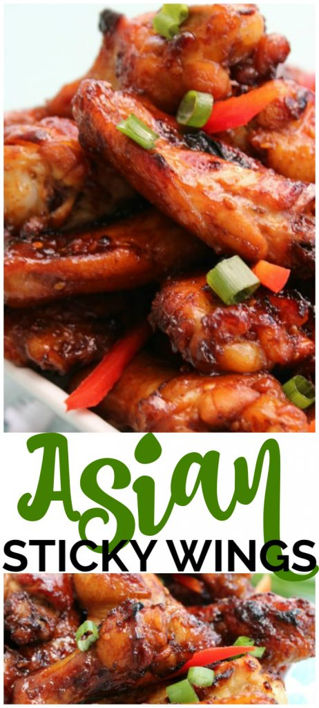 Asian Sticky Wings pinterest image
