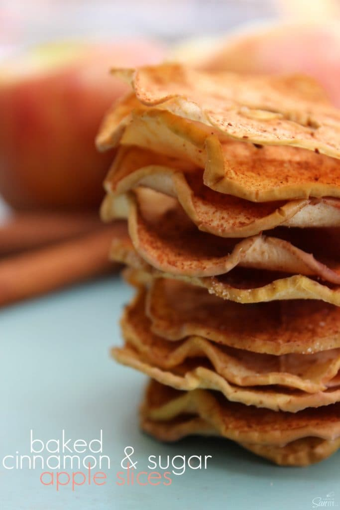 Baked Cinnamon & Sugar Apple Slices