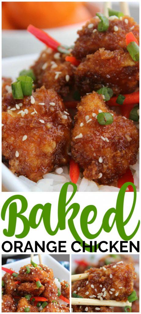 Baked Orange Chicken pinterest image