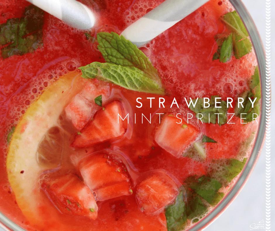 Strawberry Mint Spritzer FB