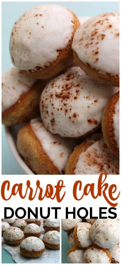 Baked Carrot Cake Donut Holes pinterest image