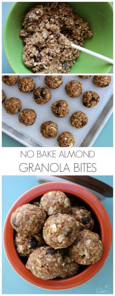 No Bake Almond Granola Bites pin