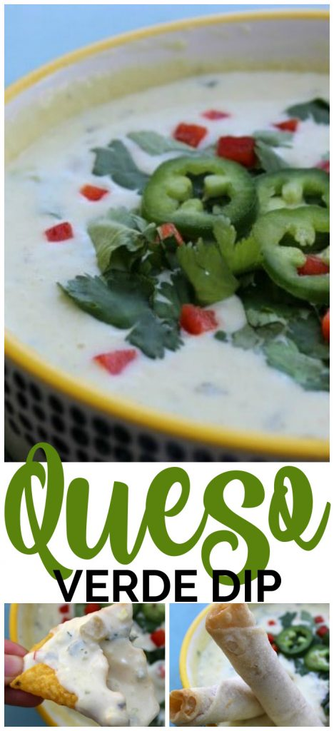 Queso Verde Dip pinterest image