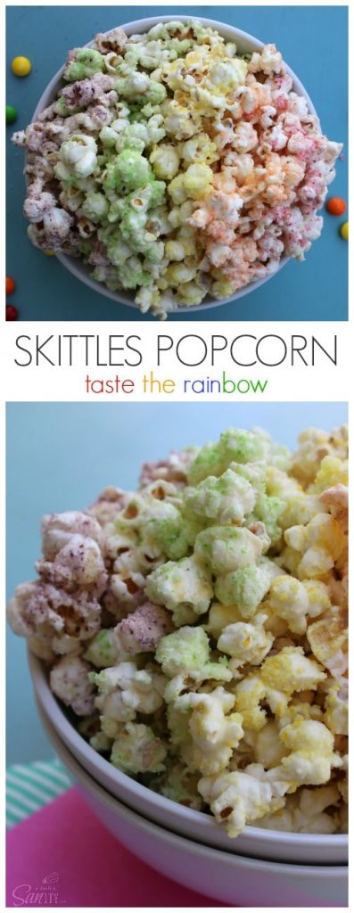 Skittles Popcorn pinterest image