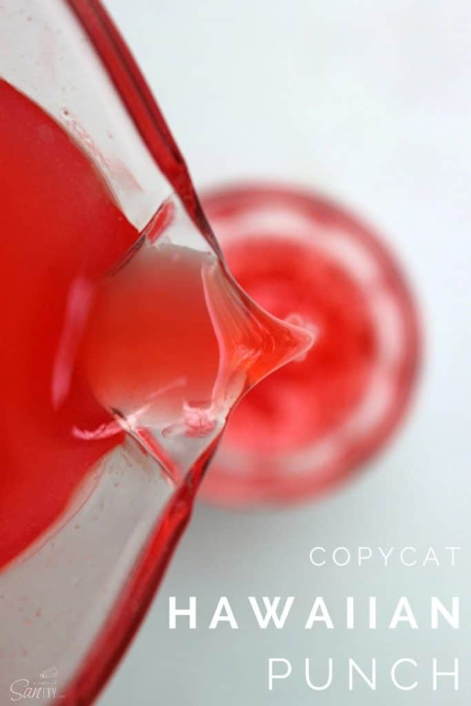 Copycat Hawaiian Punch pour into class