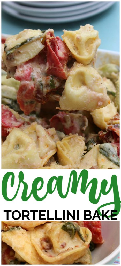 Creamy Tortellini Bake pinterest image