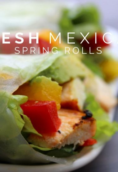 Fresh Mexican Spring Rolls Recipe