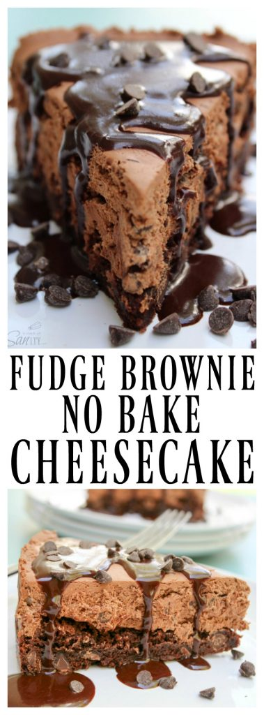 Fudge Brownie No-Bake Cheesecake