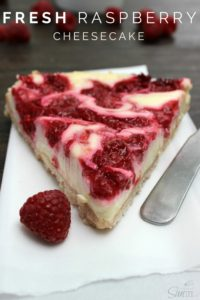 Light Fresh Raspberry Cheesecake Pin