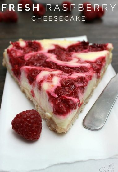Fresh Raspberry Cheesecake