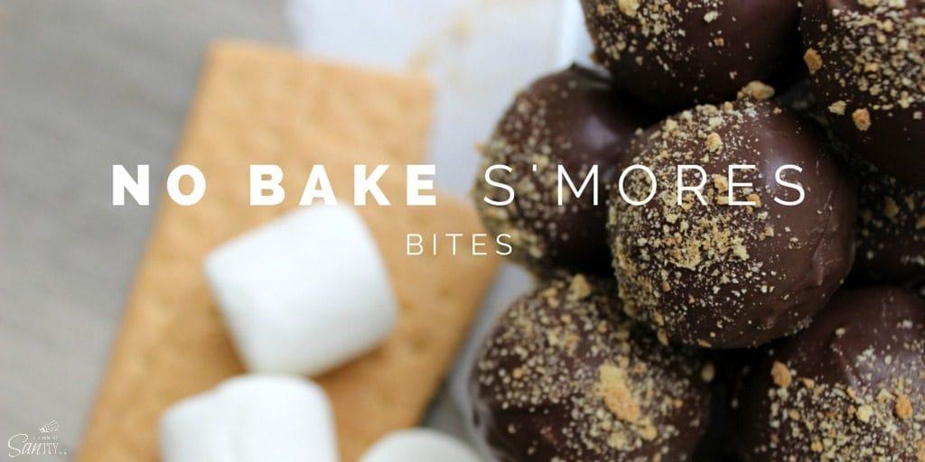 No Bake S'mores Bites twitter
