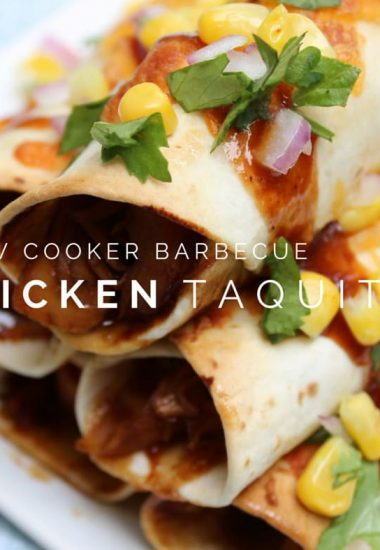Slow Cooker Barbecue Chicken Taquitos