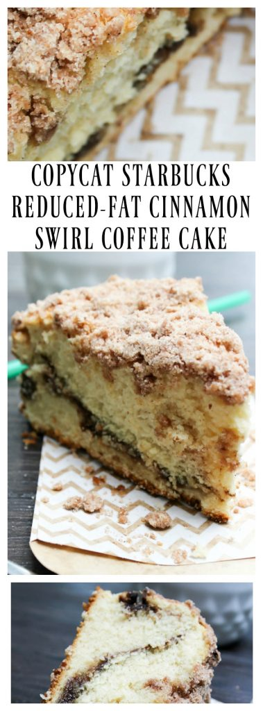 Reduced Fat Cinnamon Swirl Coffee Cake Starbucks Calories