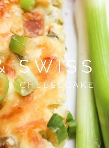 Savory Ham & Swiss Cheesecake