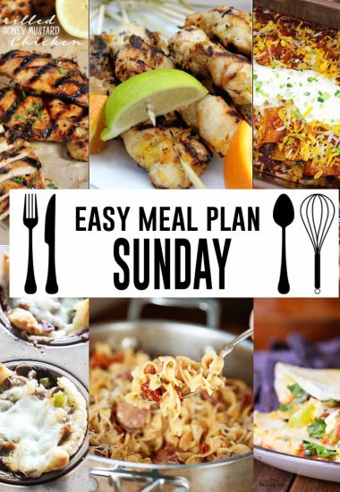 Easy Meal Plan Sunday {Week 5}